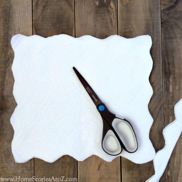 paper towel flower step 2