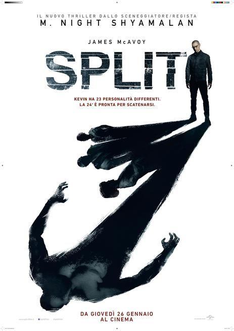 Split USA: 2017 Genere: Thriller Durata: 116' Regia: M. Night Shyamalan Con: James McAvoy, Anya Taylor-Joy, Betty Buckley, Haley Lu Richardson, Brad