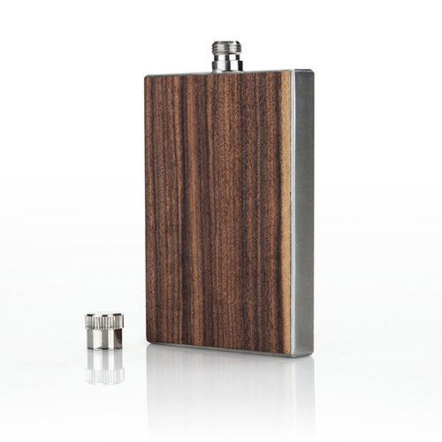 Admiral™ Rosewood Flask by Viski wooden flask by BaroneCrystal