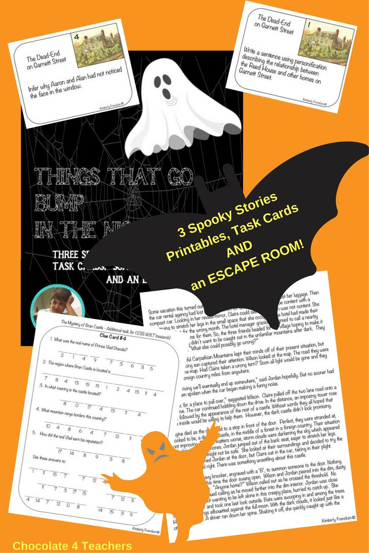Scary Story Collection for Middle School Escape Room