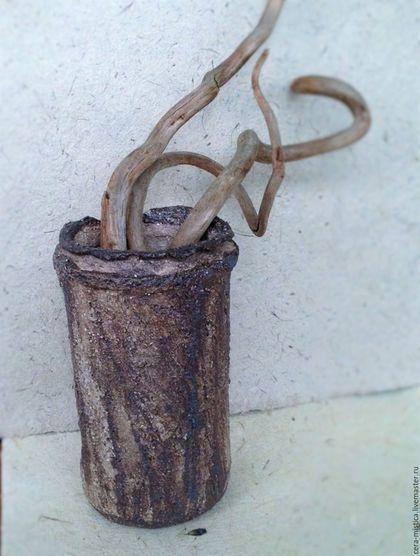 """Винтажная посуда. Ярмарка Мастеров - ручная работа. Купить """"Артефакт"""" керамическая ваза. Handmade. Керамика, ваби саби, гончарное дело"""