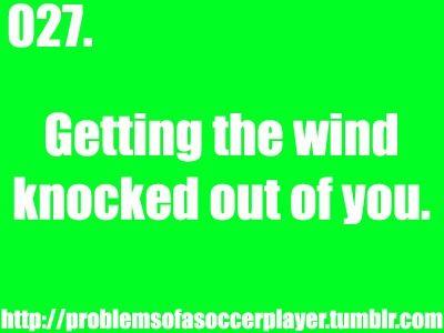 Soccer Girl Probs- got hit in the stomach yesterday