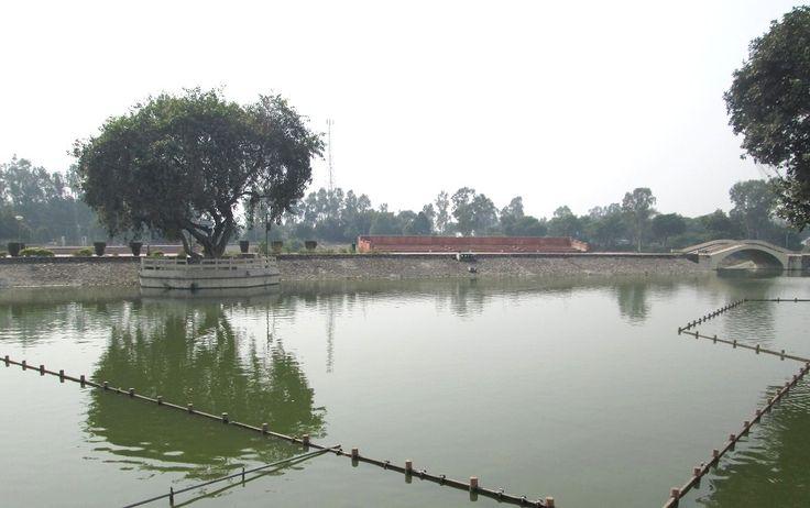 Full View of Jyotisar Lake. Jyotisar is the place where Krishna delivered the Bhagavad Gita to Arjuna.
