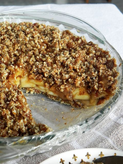 Deep-Dish Caramel Apple Pie from Practically Raw Desserts by Amber Shea Crawley