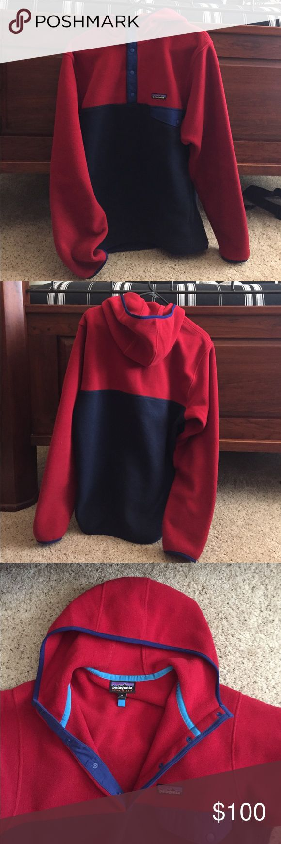 PATAGONIA SYNCHILLA SNAP-T PULLOVER with HOOD Exclusive Patagonia synchilla pullover rarely worn and in excellent condition. HAS POCKETS Patagonia Jackets & Coats