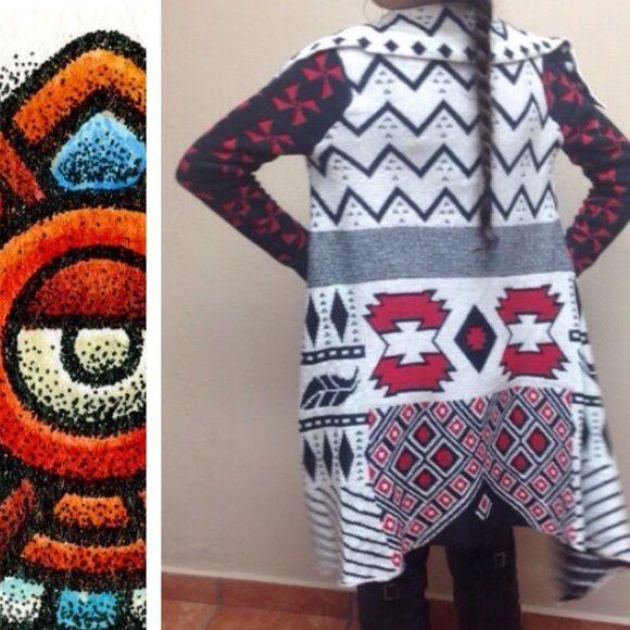 Gorgeous Woven Heart Aztec Print Cardigan Authentic new with tags Woven Heart Aztec print cardigan in Sz Small. Woven Heart Sweaters Cardigans