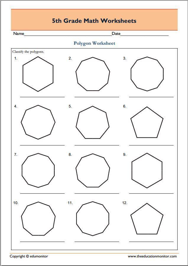 Worksheets Spotting Polygons In 2020 Geometry Worksheets Math Worksheets Math Geometry Polygons worksheet 3rd grade