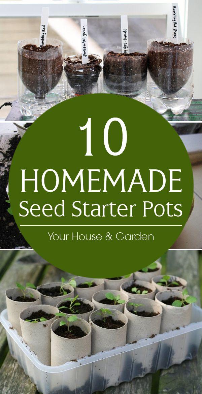 10 hecho en casa de la semilla de arranque Ollas #gardening
