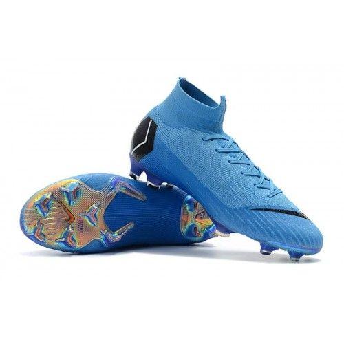 wholesale dealer ab987 65475 Botas De Futbol Nike Mercurial Superfly VI 360 Elite FG Azul Negro Violeta  visit us