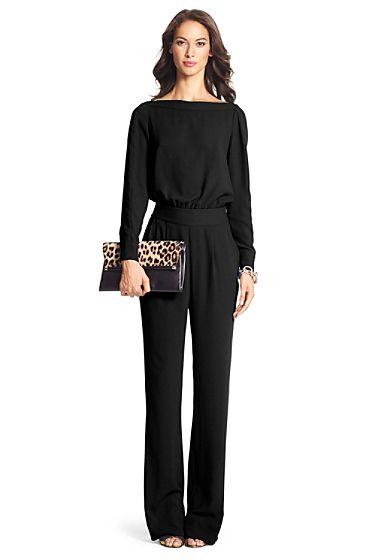 Cynthia Long Sleeve Jumpsuit In Black