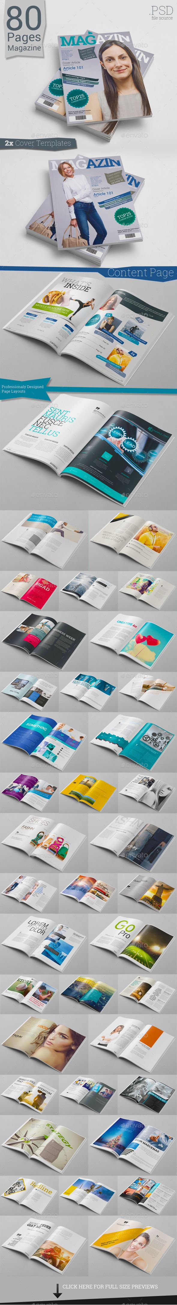 Mindblowing PSD 80 Pages Photoshop Magazine  Template • Only available here ➝ http://graphicriver.net/item/80-pages-photoshop-magazine/10470060?ref=pxcr