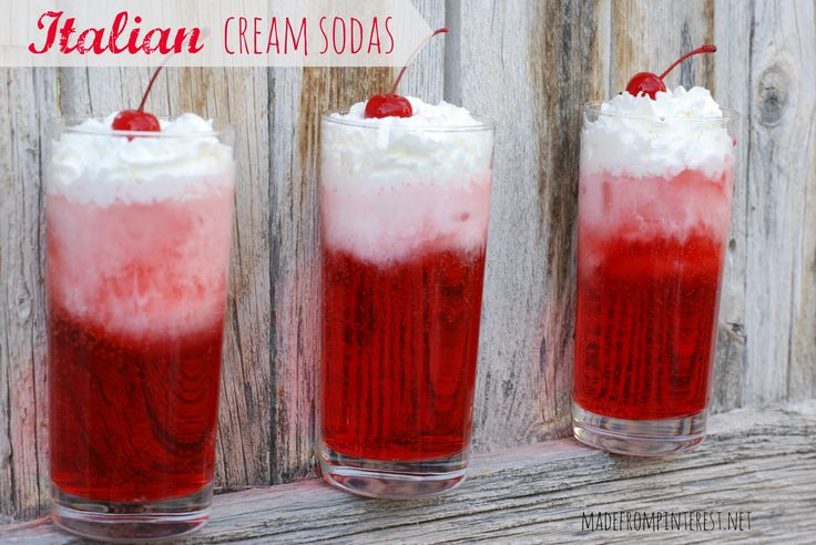 Make your own Italian Cream Sodas. Lots of flavors to choose from and much cheaper too!  madefrompinterest.net