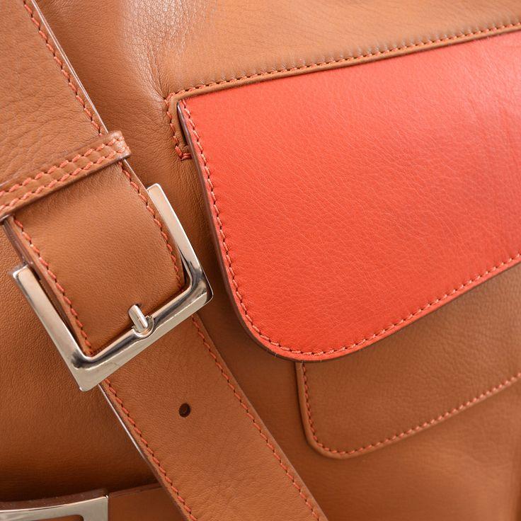 MarteModena M-thrice messenger bags Camel/Orange