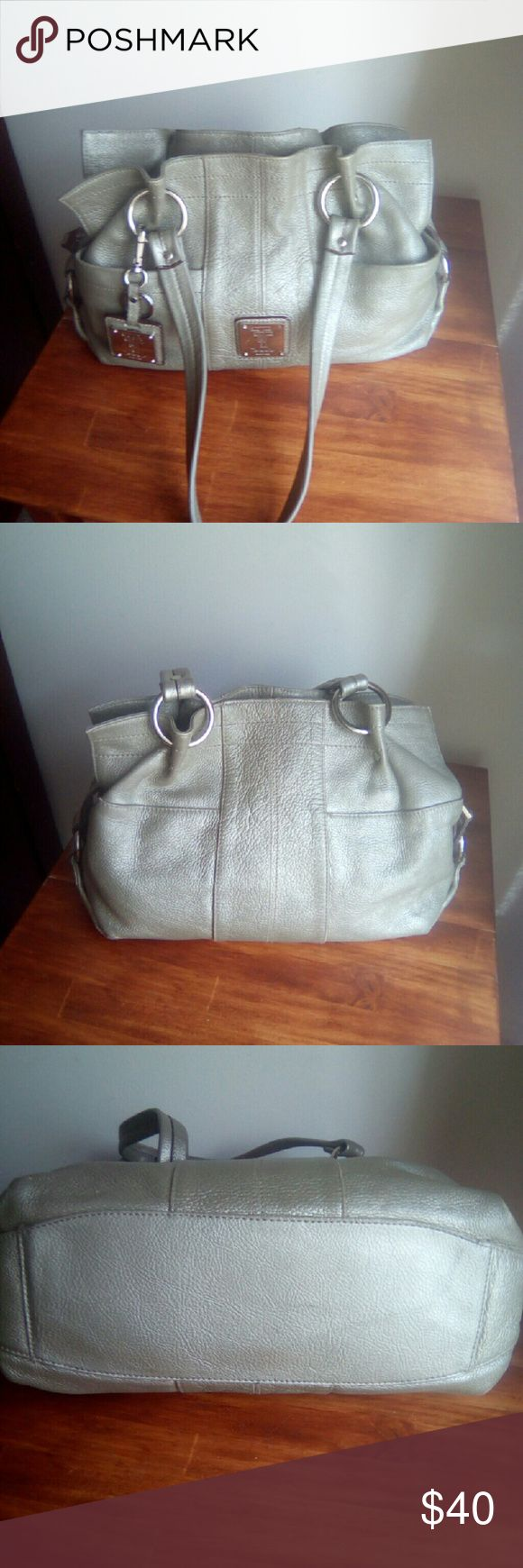 Tignanello Handbag Nice used bag, gray magic , largebag. Side pockets on outside, inside zipper pocket & small pockets. Tignanello Bags Shoulder Bags