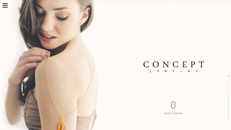 Concept Jewelry website - UI in motion