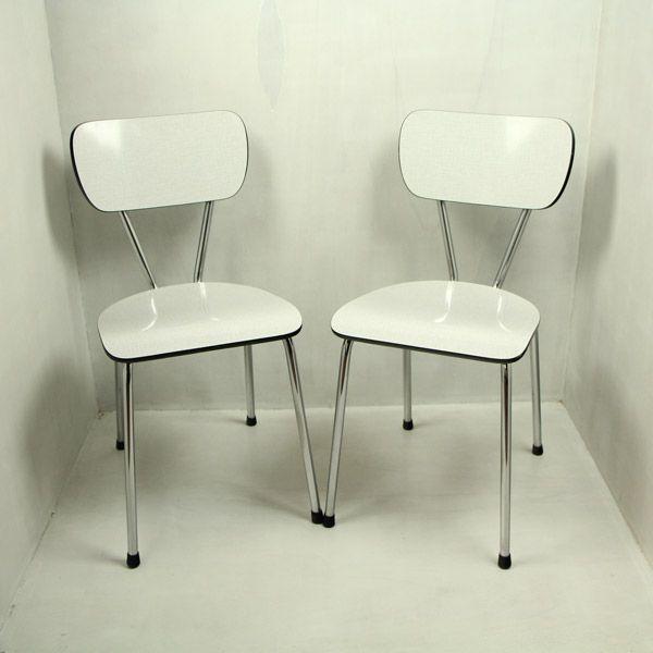 Formica Keuken Verven : Twee formica stoelen. Jaren '70. Mijn vader heeft ze nog steeds maar