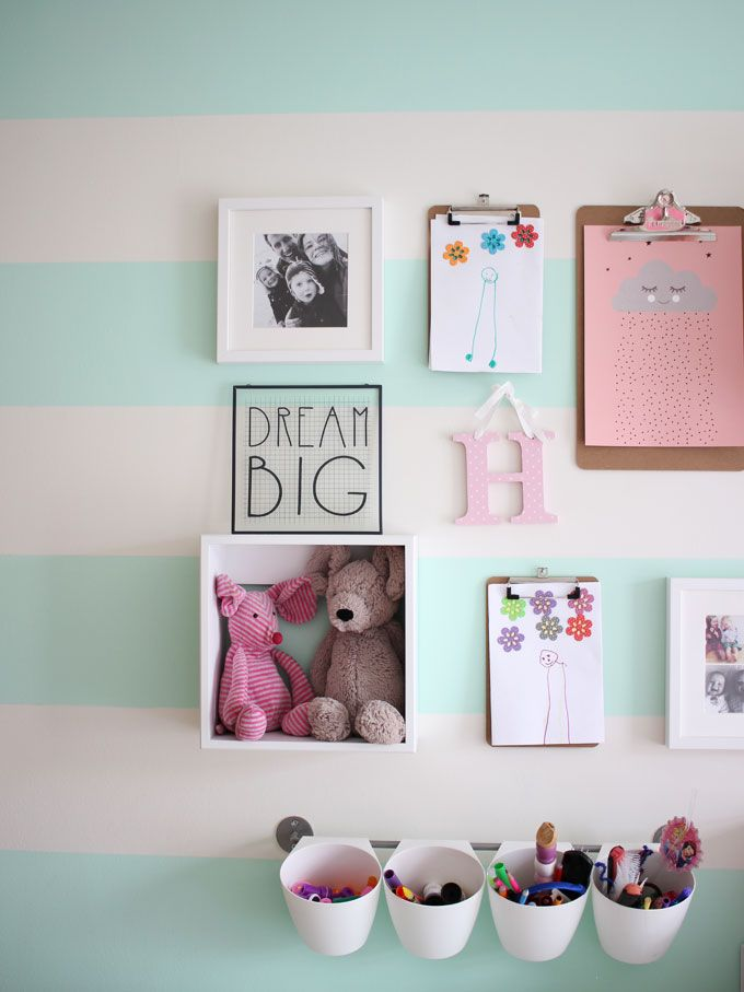 A little girl's pink and mint green bedroom tour. Inspiration and decoration…