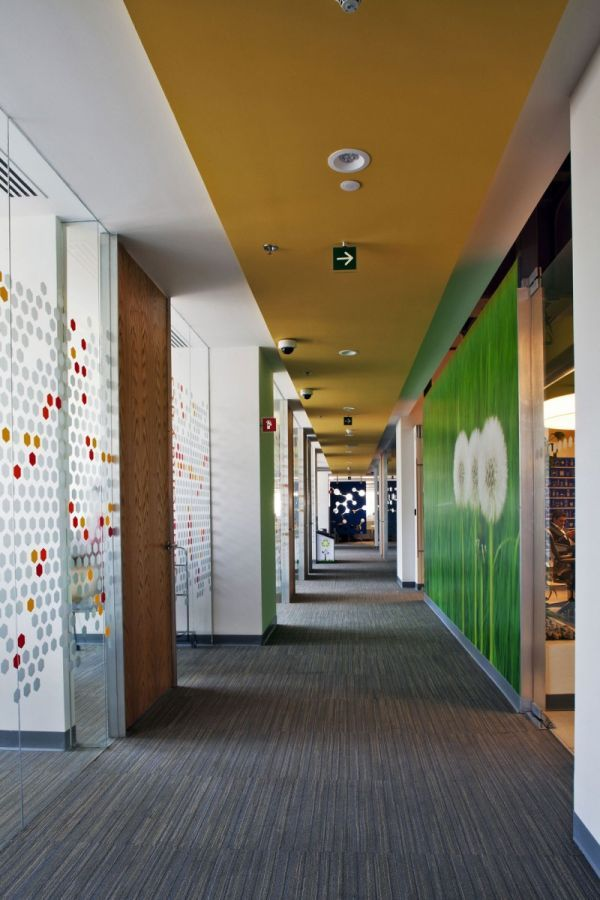 Colorful corporate office interior design by Space Architecture