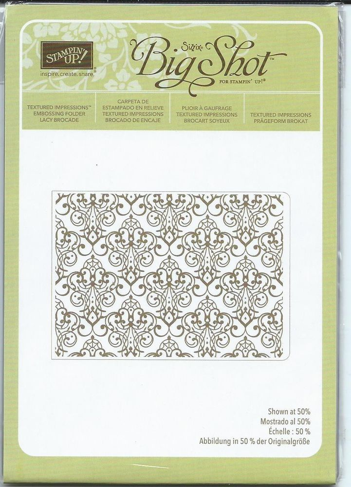 Retired Stampin' up Lacy Brocade Textured Impressions ...