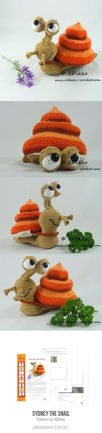 Sydney The Snail Amigurumi Pattern
