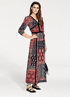 Red Paisley Print Maxi Dress by Heine B.C. Best Connections