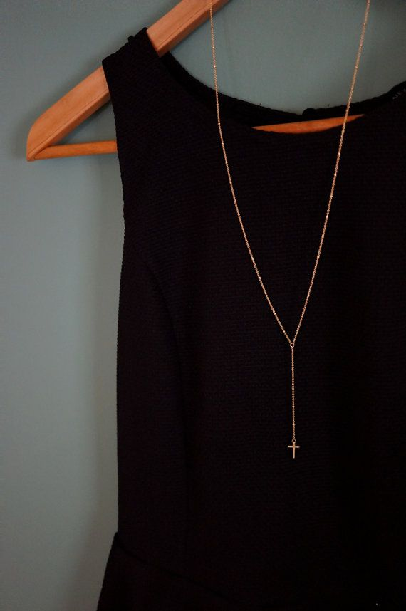 Modern Gold Rosary Necklace Gold ball chain Long by minifabo
