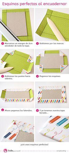 Encuadernación scrapbook: esquinas perfectas