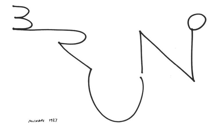 Bruno Munari // signature