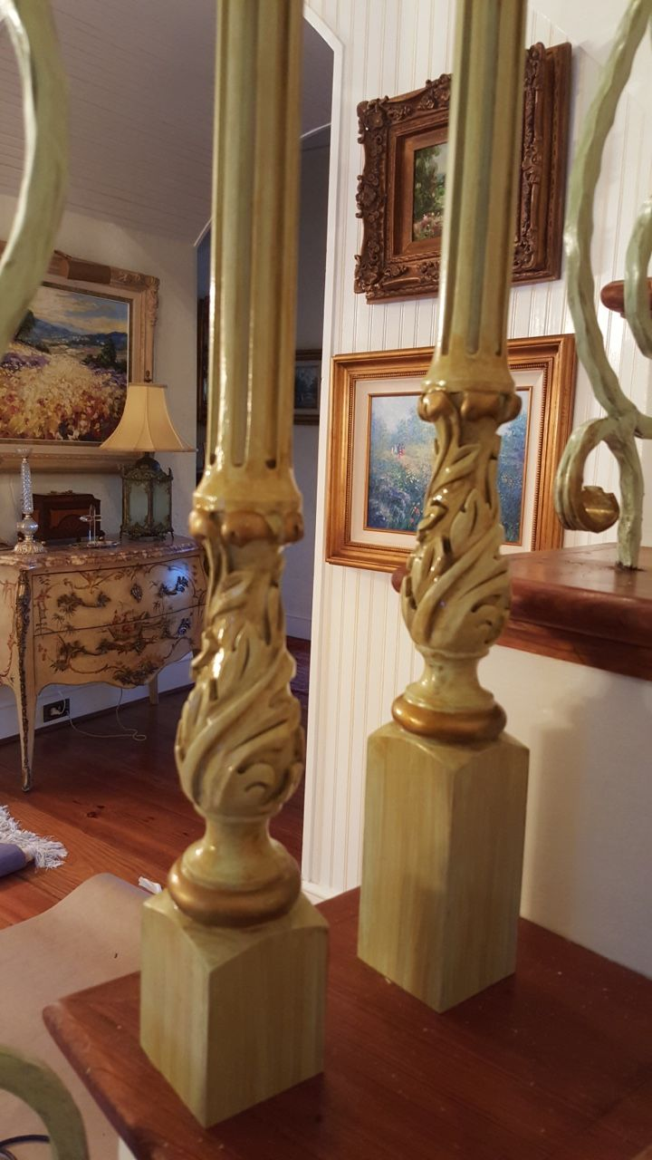 Pin antique garden gates in wrought iron an art nouveau style on - Leo Dowell Interiors New Stair Balusters In The Vintage Style By Leo