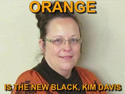 Orange is the new black. A federal judge found Rowan County, Kentucky, clerk Kim Davis in contempt of court