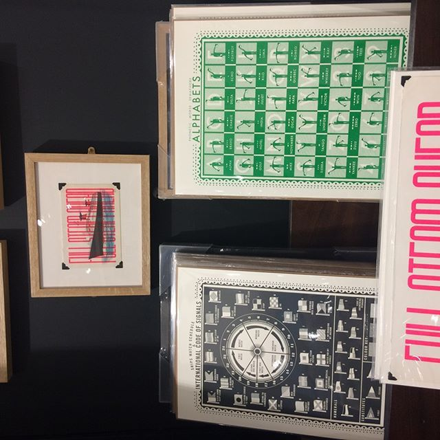 Great to see James Prints work at the V&A museum shop alongside the current Ocean Liners exhibition #Print #vanda #oceanliners #screenprint