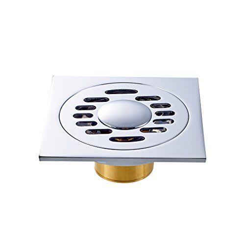 Auralum� Bodenablauf Dusche Duschablauf Messing 100 x 100mm - DN40 - Geruchsverschlu�