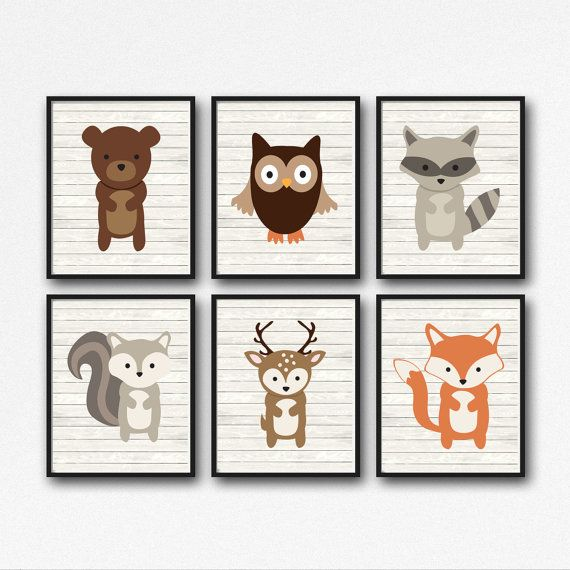 Bosques animales vivero arte bosque animales por simplypstationery