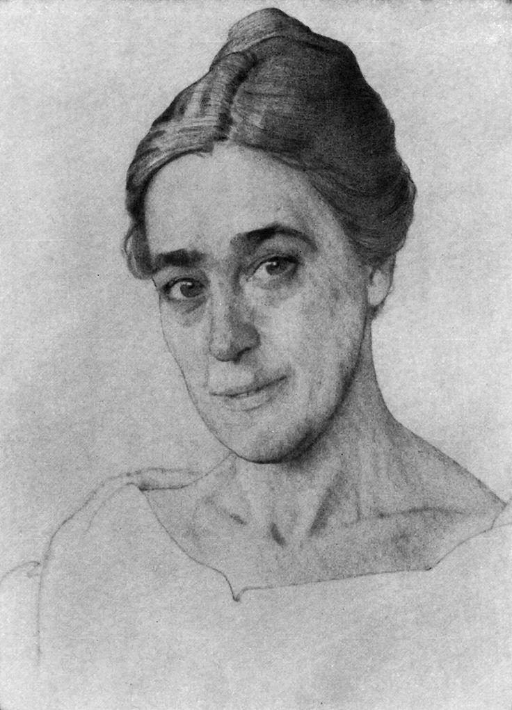 Сомов. Портрет Н.Е.Добычиной. 1921