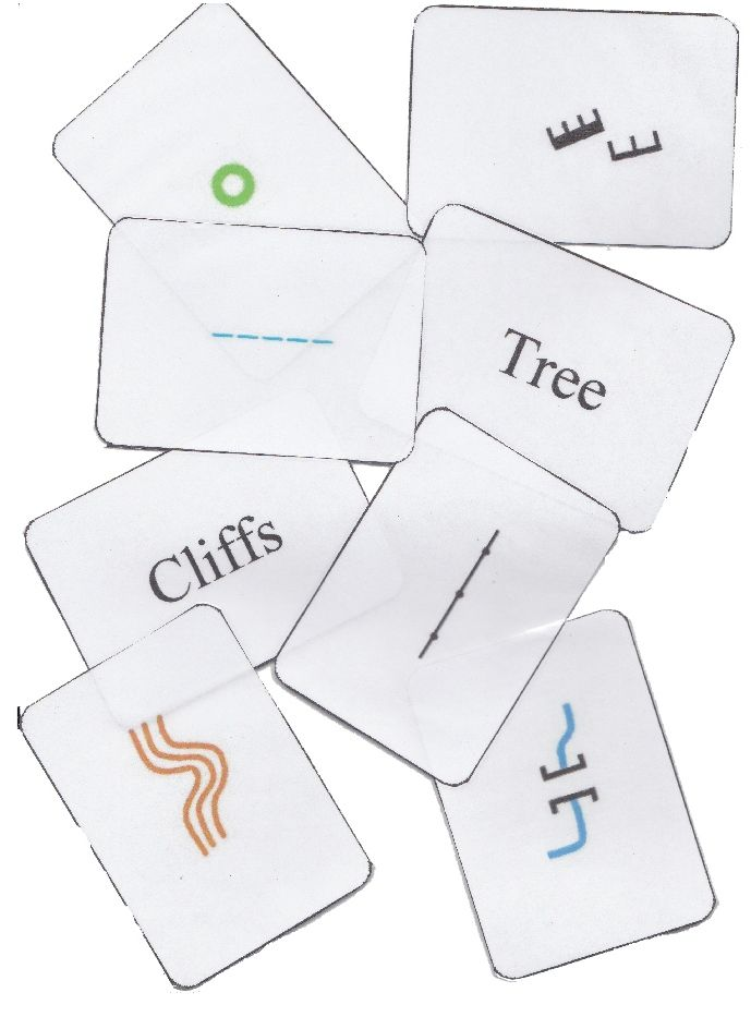 Map Symbols flash cards. Print out and laminate and then use in map symbol relay races http://www.scottish-orienteering.org/documents/natcen/Map_Symbol_Flash_cards.pdf