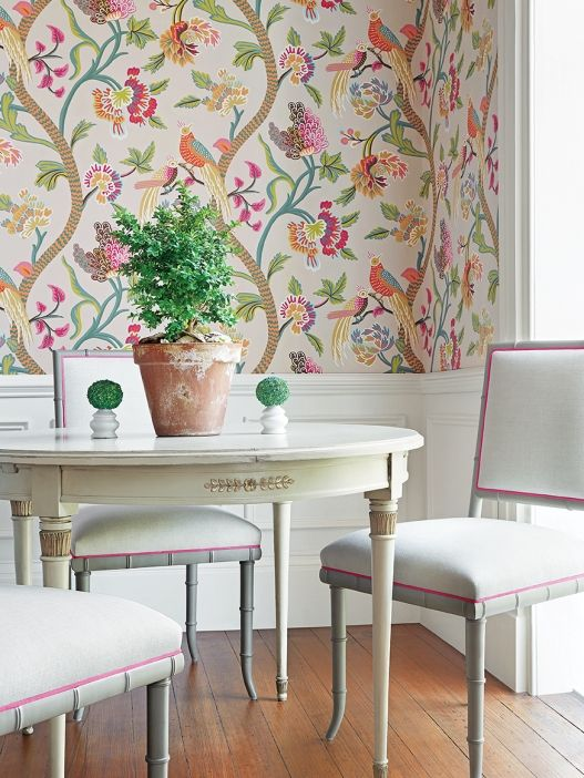 105 best thibaut wallpaper images on pinterest for Dining room wallpaper