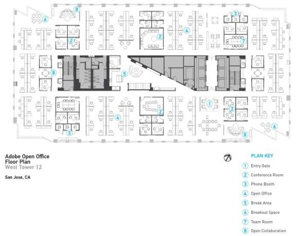 open office floor plans. Adobe open floor plan  Open office space Pinterest Office and spaces