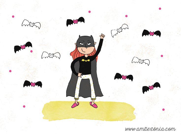 A minha filha tem umas leggings do Batman mas no outro dia chegou a casa a queixar-se que o João lhe disse que o Cavaleiro das Trevas não é para meninas. E eu expliquei-lhe que é. #amaezonia #maternidade #batman #feminismo #igualdade