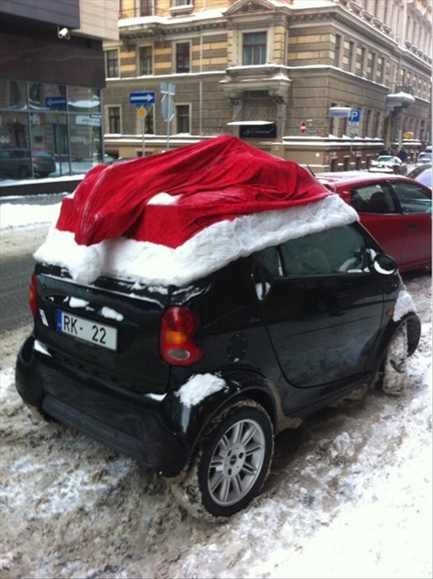 Santa Hat Car Decor