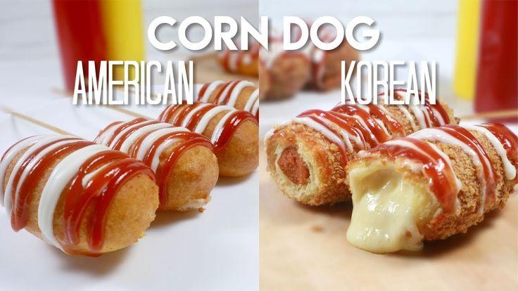 Jajan dan bikin mozzarella corn dog kejunya meleleeh