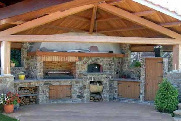 Летняя кухня на даче: Подборка фото-идей, проекты ...