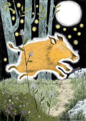 En la mitología nórdica Gullinbursti es un cerdo dorado forjado por el enano Brokkr y su hermano Sindri para una competencia que tenía con Loki de hacer tres tesoros uno para Odín otro para Thor y el último para Freyr. El cerdo Gullinbursti,  podría correr en el aire y sobre el mar, más rápido que cualquier caballo, y por muy larga que fuese la noche, por más oscuros que fuesen los otros mundos, siempre habría claridad donde estuviera el cerdo de tan brillantes que eran sus cerdas.