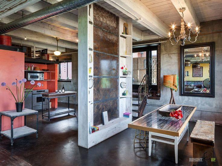 Дизайн квартиры в стиле лофт в Москве: оформление в грубом индустриальном стиле