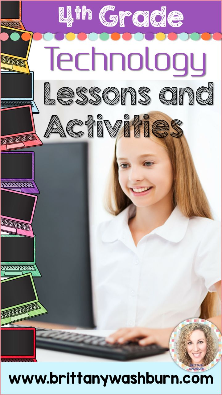 4th grade technology lesson plans and activities for the entire school year. These lesson plans and activities will save you so much time coming up with what to do during your computer lab time. Ideal for a technology teacher or a 4th grade teacher with mandatory lab time. All of the work is done for you!