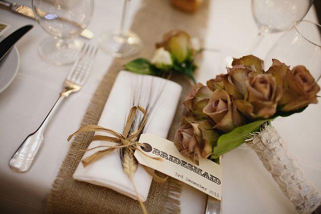 eko dekoracje weselnych sal stolow winietki