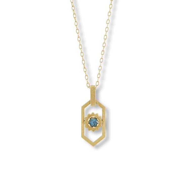 Image of Le Paon Bleu Necklace