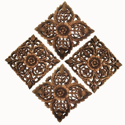 rustic wood wall decor antique carved wood wall plaque #cheaphomedecor