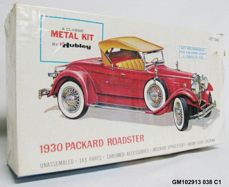 vintage hubley 1930 packard roadster 1 22 classic metal model car kit model cars pinterest. Black Bedroom Furniture Sets. Home Design Ideas