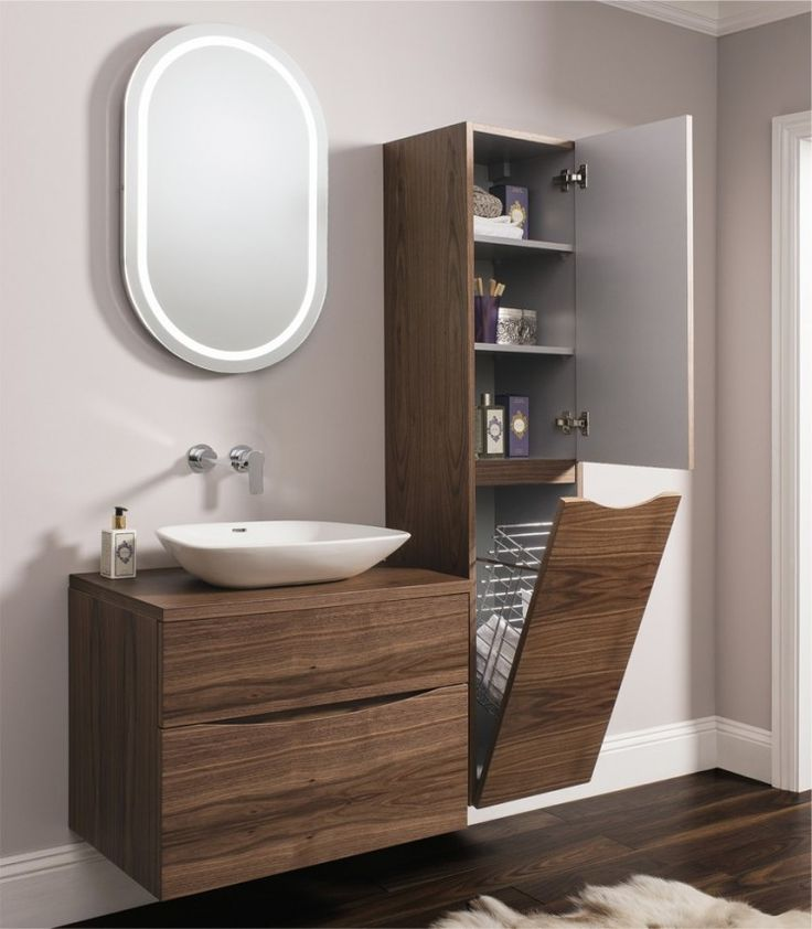 glide ii american walnut bauhaus bathrooms furniture suites basins ultimate bathroom - Furniture In The Bathroom