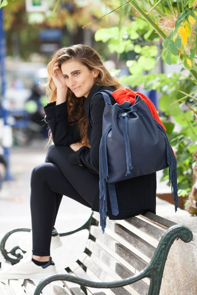Artemis fringe blue leather by HappyM